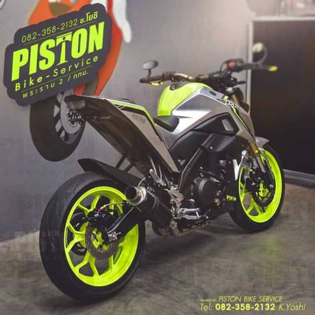 Modifikasi Yamaha M-Slaz Velg Ijo Stabilo Ini Jos Seperti MT-10 01 Pertamax7.com