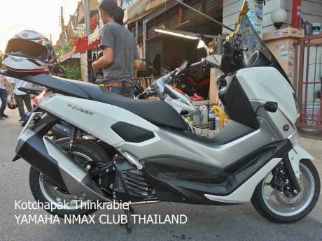 Modifikasi Yamaha NMAX 155 pakai knalpot Ninja 250 FI Makin Keren 06 Pertamax7.com