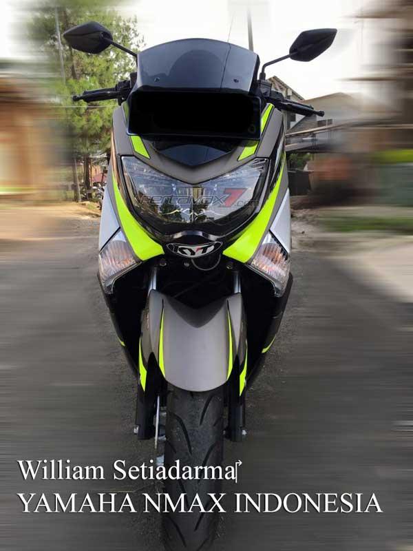 Modifikasi Yamaha NMAX Striping KYT Helmet ini ciamik  01 Pertamax7.com