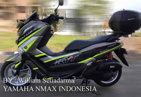 Modifikasi Yamaha NMAX Striping KYT Helmet ini ciamik  02 Pertamax7.com