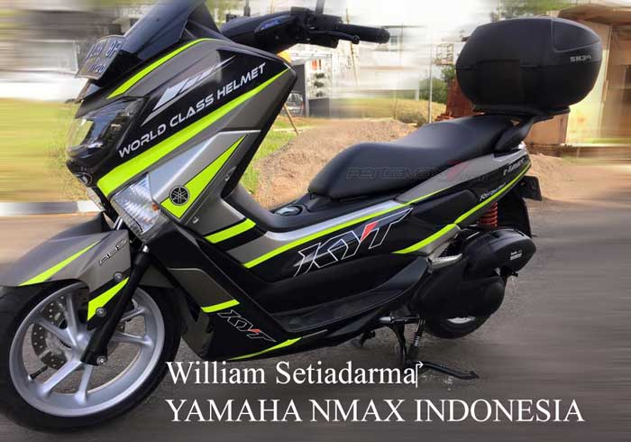 Modifikasi yamaha nmax striping kyt helmet ini ciamik for Chaise yamaha