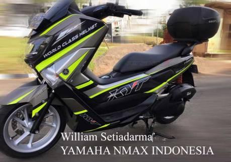 Modifikasi Yamaha NMAX Striping KYT Helmet ini ciamik  03 Pertamax7.com