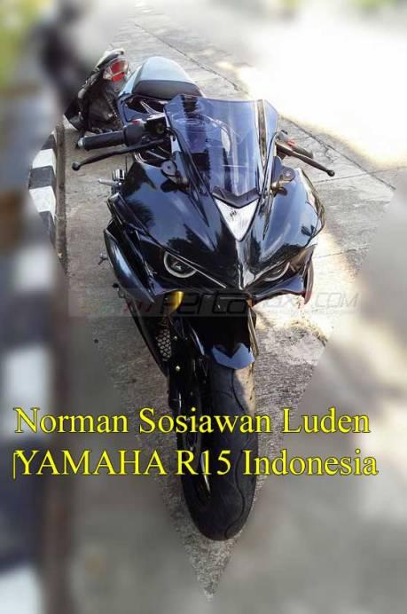 Modifikasi Yamaha R15 pakai lampu R25 ini Sadis 02 Pertamax7.com