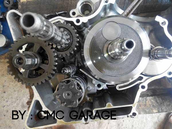 Pakai Oli Motul 5100 Ester 10W40 4T, Jerohan Mesin Yamaha Old Vixion ini bersih banget 02 Pertamax7.com