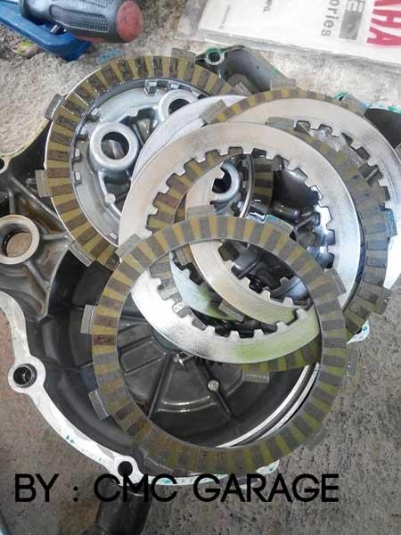 Pakai Oli Motul 5100 Ester 10W40 4T, Jerohan Mesin Yamaha Old Vixion ini bersih banget 03 Pertamax7.com