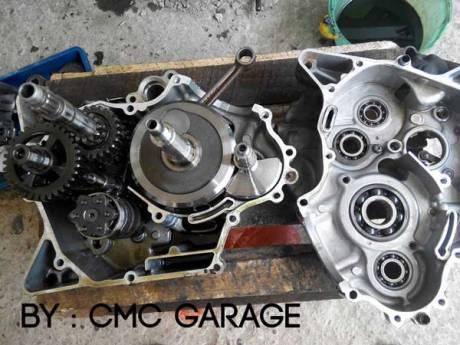 Pakai Oli Motul 5100 Ester 10W40 4T, Jerohan Mesin Yamaha Old Vixion ini bersih banget 05 Pertamax7.com