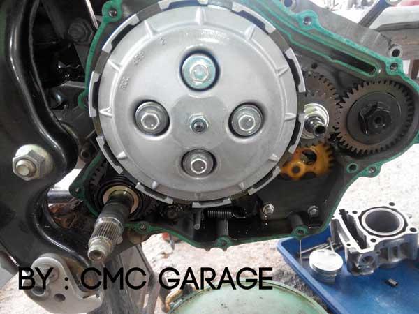 Pakai Oli Motul 5100 Ester 10W40 4T, Jerohan Mesin Yamaha Old Vixion ini bersih banget 07 Pertamax7.com