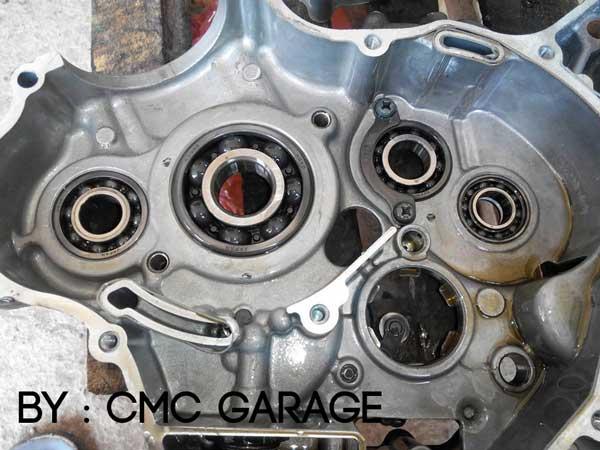 Pakai Oli Motul 5100 Ester 10W40 4T, Jerohan Mesin Yamaha Old Vixion ini bersih banget 08 Pertamax7.com