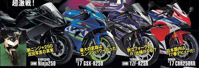 Pertarungan-kelas-250-CC--Kawasaki-Ninja-250,-Yamaha-YZF-R25,-Honda-CBR250RR-dan-Suzuki-GSX-R250-Pakai-Upside-Down-Fork-pertamax7.com-