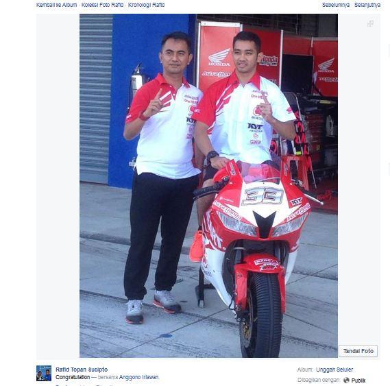 Resmi Haji Ahmad Yudhistira Pindah ke Tim Honda Geber CBR600RR , selamat tinggal Kawasaki pertamax7.com