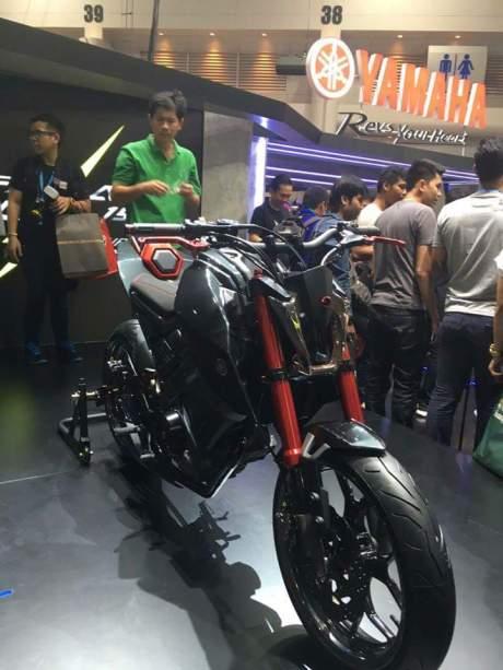 Sangarnya Modifikasi Yamaha M-Slaz MT15 Hitam di Thailand 02 Pertamax7.com
