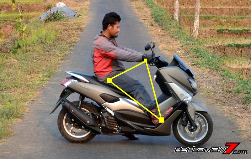 segitiga ergonomi yamaha NMAX pertamax7.com mode 2