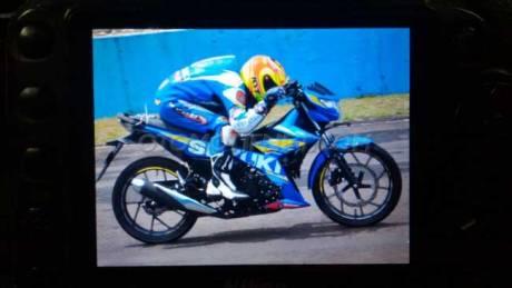 suzuki satria F injeksi  nunduk biar kencang di balap pertamax7.com