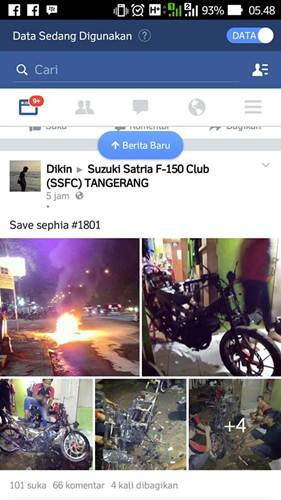 Suzuki Satria F terbakar Karena Isi Bensin Luber pertamax7.com 00 pertamax7.com
