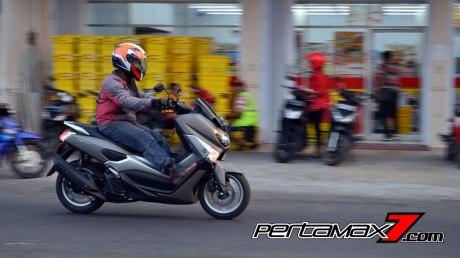 Testride Yamaha NMAX 155 ABS, Handling Mantabh Pengereman Akurat.. Tabungan Alamat 17 Pertamax7.com