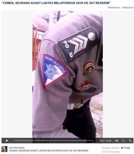 Video Menanyakan Surat Razia, Netizen Ini Cekcok Dan Dilaporkan Ke Sat Reskrim Oleh Polisi.... Lapor Balik Ke Propam pertamax7.com
