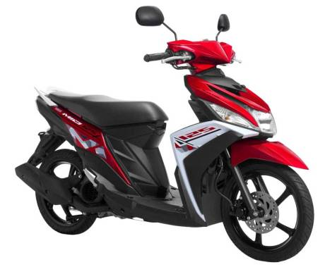 Warna baru Yamaha Mio-M3-Energetic-Red Pertamax7.com