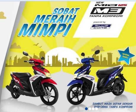 warna dan striping baru yamaha Mio M3 blue core pertamax7.com tanpa kompromi