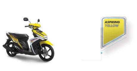 warna yamaha Mio M3 kuning 2016 pertamax7.com