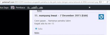 Yamaha M-slaz di Indonesia bukan bernama MT15 melainkan Sabre atau Xabre 150 pertamax7.com