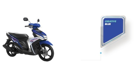 yamaha Mio M3 biru 2015