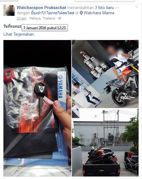 Baru Dua Jam Setelah Beli Moge Yamaha MT-09, Meninggal Dunia Kerana Tabrakan Dengan Truk Es Di Thailand pertamax7com 1