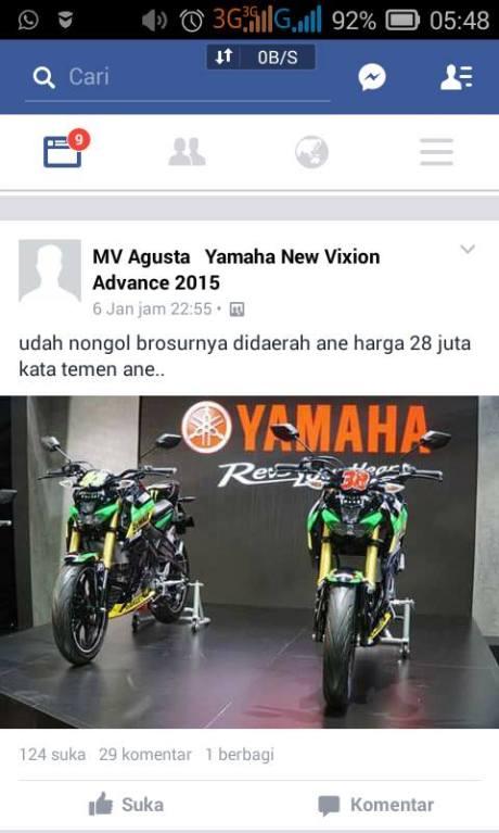 Brosur Yamaha MT-15 nongol di Cilacap Harga cuma Rp.28 juta  pertamax7.com
