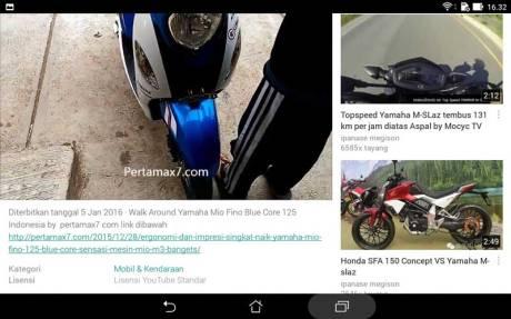 buka youtube pakai Asus ZenPad 7.005 Pertamax7.com
