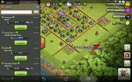clash on clans di Asus ZenPad 7.006 Pertamax7.com