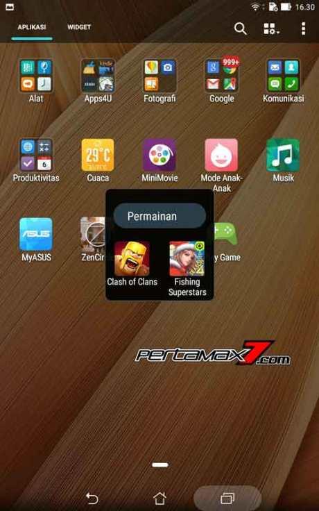 game clash of clans dan fishing superstar Asus ZenPad 7.003 Pertamax7.com