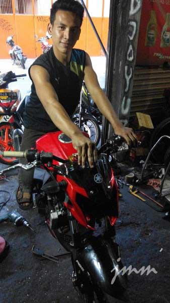 Hobi-Cornering,-Kawasaki-Ninja-250FI-Fairing-Ini-Dimodip-Jadi-Ala-Yamaha-New-Vixion....-Vrumm-Stereo-pertamax7.com-1