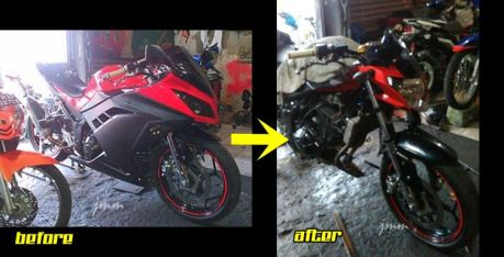 Hobi Cornering, Kawasaki Ninja 250FI Fairing Ini Dimodip Jadi Ala Yamaha New Vixion.... Vrumm Stereo pertamax7.com