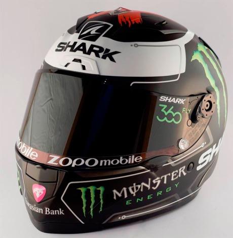 Ini dia Foto Bening Helm Shark Jorge Lorenzo, Ya Khas Por Fuera... Byee HJC 01 Pertamax7.com