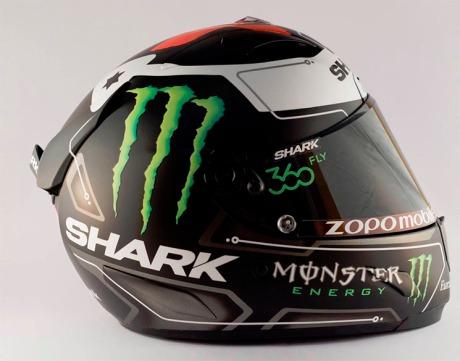 Ini dia Foto Bening Helm Shark Jorge Lorenzo, Ya Khas Por Fuera... Byee HJC 02 Pertamax7.com