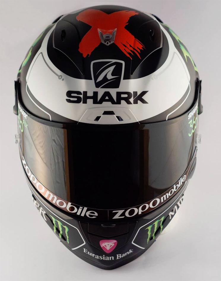 Ini dia Foto Bening Helm Shark Jorge Lorenzo, Ya Khas Por Fuera... Byee HJC 04 Pertamax7.com