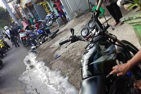 Kecelakaan 3  Motor Di Malang, Yamaha New Vixion Advance Movistar Sampai Remuk 01 Pertamax7.com