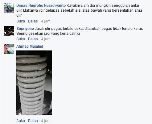 Keluhan Aksesoris Sok Belakang Empuk Kayaba Yamaha Nmax Cat Gampang Mengelupas 03 Pertamax7.com