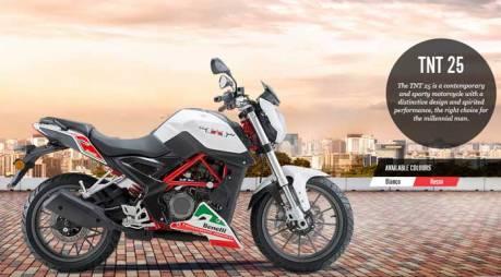 Kenalan dengan Benelli TNT 25 di India, Mesin 1 Cylinder Suaranya tak merdu lagi 30 Pertamax7.com
