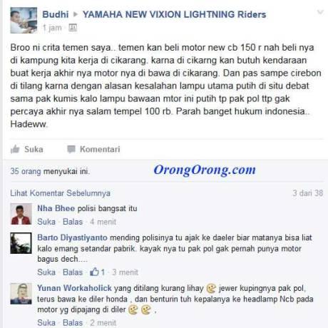 Lampu-Depan-Led-All-New-Honda-CB150R-bawaan-Pabrik-Warna-Putih-Kena-Tilang-di-Cirebon,-Walah--pertamax7.com