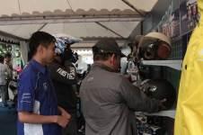 Liputan Booth asesoris dan part New Fino 125 Blue Core pertamax7.com