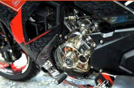 Modifikasi Yamaha EXCITER Aka Jupiter MX 150 Pakai Cover Crankcase Tembus Pandang, Bisa Buat Vixion Dan R15...Keren 01 Pertamax7.com
