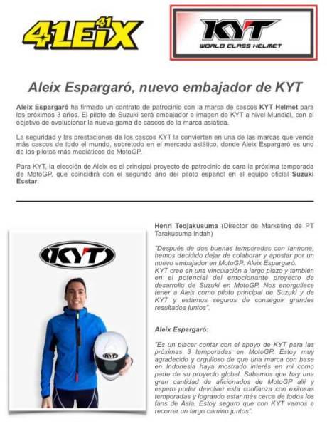 Official-KYT-Helmet-Resmi-Gandeng-Aleix-Espargaro-selama-3-Musim--pertamax7.com