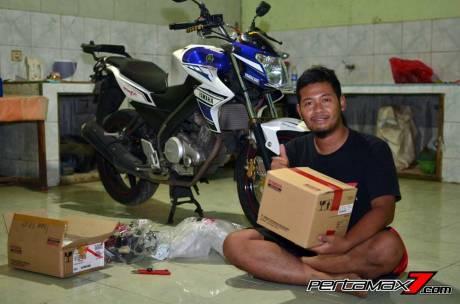 Pasang Headlamp Yamaha New Vixion Advance di Vixion lightning, Gampang bikin ganteng 02 Pertamax7.com