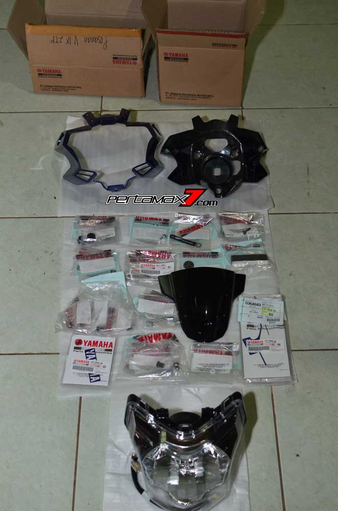 Pasang Headlamp Yamaha New Vixion Advance di Vixion lightning, Gampang bikin ganteng 04 Pertamax7.com