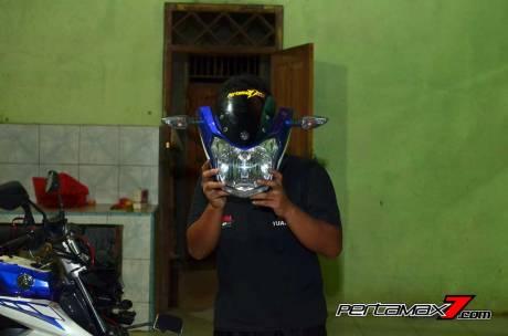 Pasang Headlamp Yamaha New Vixion Advance di Vixion lightning, Gampang bikin ganteng 05 Pertamax7.com
