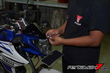 Pasang Headlamp Yamaha New Vixion Advance di Vixion lightning, Gampang bikin ganteng 06 Pertamax7.com