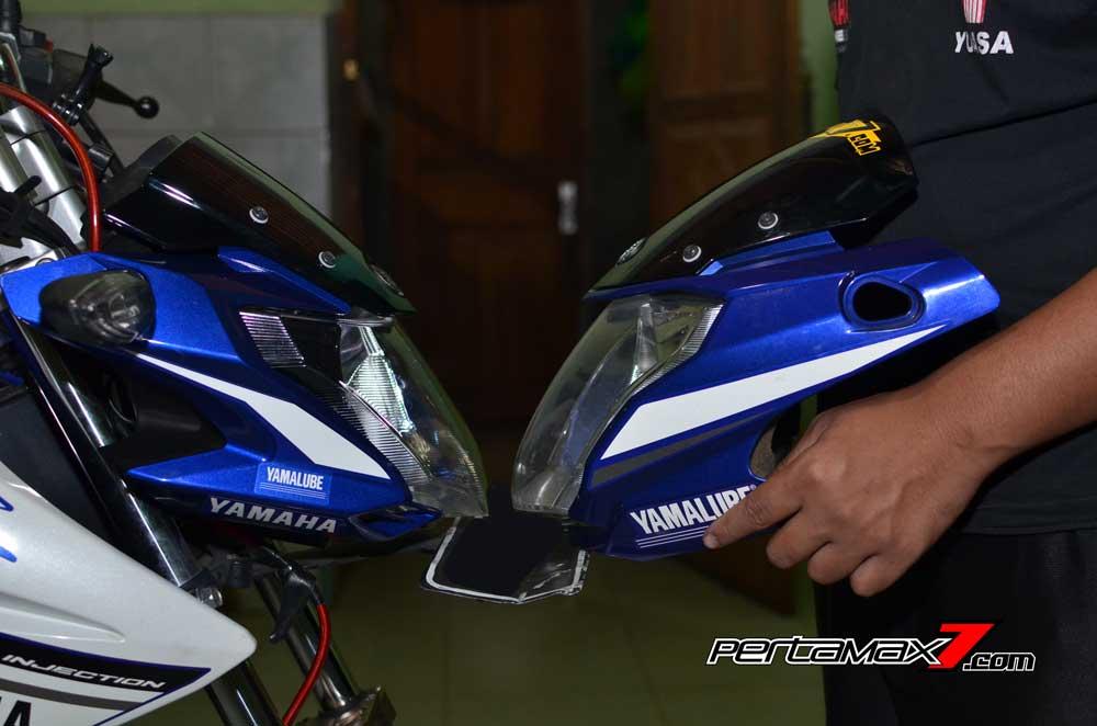 Pasang Headlamp Yamaha New Vixion Advance di Vixion lightning, Gampang bikin ganteng 07 Pertamax7.com