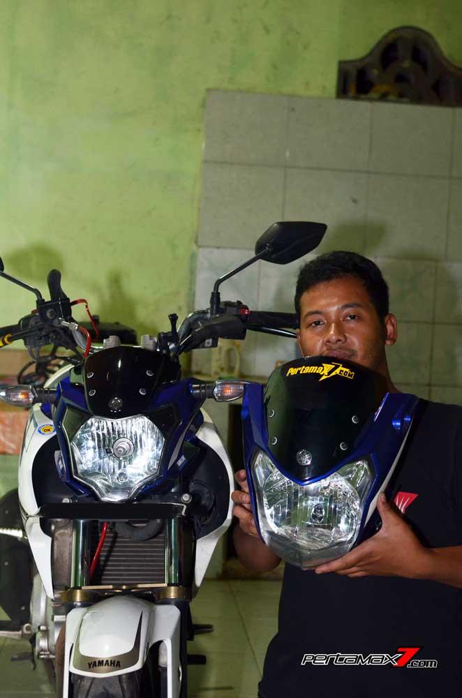Pasang Headlamp Yamaha New Vixion Advance di Vixion lightning, Gampang bikin ganteng 08 Pertamax7.com