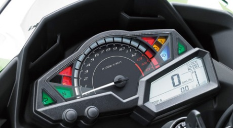 speedometer all new kawasaki Ninja 250 Fi 2016 pertamax7.com
