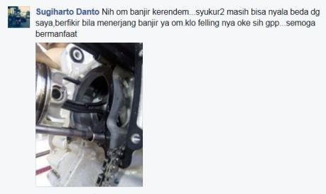 Terjang Banjir Tinggi, Stang Piston Yamaha Nmax Melengkung Kena Water Hammer pertamax7.com